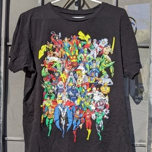 DC COMICS ORIGINALS HEROES AND VILLAINS TSHIRT